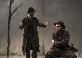Marty Rea as Vladimir and Aaron Monaghan as Estragon in
